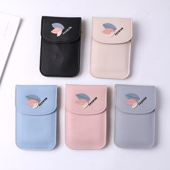 New style women hold multifunctional bag long and wide mobile phone bag zero purse slanting over cov Rice white [P00154]
