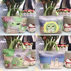 Cartoon travel frog handbag lunch box for PU female bag travel around the frog cosmetic bag The snail