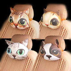 New creative stereoscopic meow star car pillow cartoon carbon bag pillow car interior decoration who 26 * 30