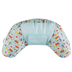 Child neck, pillow, safety belt, shoulder protector, car seat, neck protector, pillow, siesta, car s Sky blue 35 * 35 * 11 cm