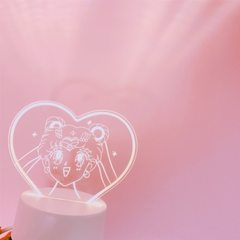 Japanese girl`s heart lovely cartoon beautiful girl`s heart projection little night lamp room decora 4 w.