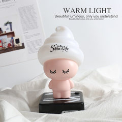 Manufacturer direct sale customized design creative household nightlight USB rechargeable desk lamp  Solid pink