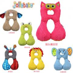 Jollybaby baby neck pillow u-shaped travel pillow baby car seat safety pillow 1-4 years old The owl JB car pillow