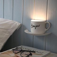 火烈鸟咖啡杯小夜灯 USB充电柔光护眼声控伴睡LED小夜灯创意礼品 1