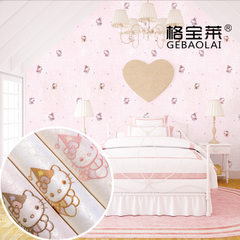 Artisan collar children`s wall cloth embroidery cute cartoon children`s room seamless wall cloth pin Launched - 1 - ivory white