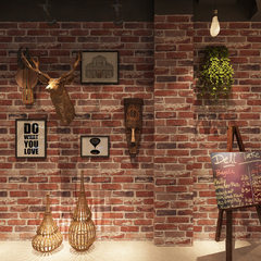 Retro 3D brick brick wall paper brick cafe bar cultural stone red brick wallpaper 57101 vintage grey bricks