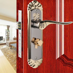 门锁欧式门锁双舌室内卧室房门锁木门把手锁卫生间执手锁具 标准