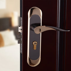 钛黑金铝合金房门锁室内门锁简约门把手执手锁木门锁室内舌锁 35-45mm
