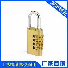 T334 case lock brass metal locker lock small durable high precision anti-theft padlock 28.5 mm 4 wheel