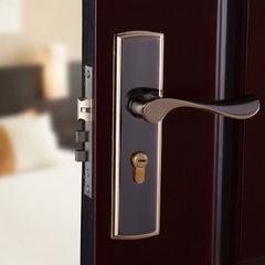 钛黑金卧室房门铝合金锁室内执手锁门锁特价机械五金轴承锁具批发 钛黑金