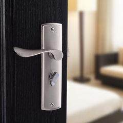 特价不锈钢拉丝室内门锁欧式房门把手执手锁卧室房门锁具 35-45mm
