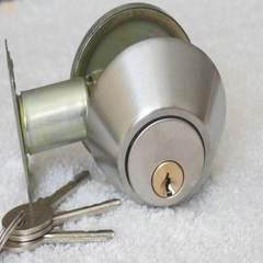Single side stainless steel door door lock door lock bedroom door with auxiliary invisible door lock Single locks