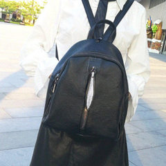 Can distribute vertical side women`s shoulder bag imitation leather copy multifunctional pure color  black
