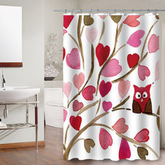 Bathroom waterproof and mildew-proof shower curtain suit bathroom shower door curtain hanging curtai Design is a 180 * 150 cm