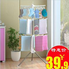 Simple drying rack floor folding mobile diaper towel rack balcony hanging clothes rack multi-functio Pink 170 * 68.5 cm