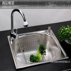 Kitchen stainless steel sink single wash dishes bowl basin pool integrated molding thickened pearl s 4237 single slot
