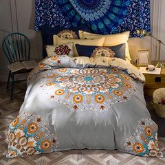享富安娜家纺 全棉磨毛四件套双人床纯棉床上用品四件套礼品批发 被套200*230CM床单230*250CM枕套一对
