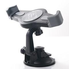 The ipad tablet car bracket sucker 360-degree rotary universal backseat multifunction stretch foldin gray