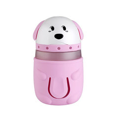 The new cartoon wangxing humidifier USB seven-color night light humidifier car desktop fog purifier pink 132.5 * 75.2 mm
