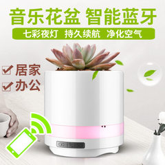 Vehicle-mounted air purifier bluetooth speaker box bonsai intelligent touch sensor can play the pian Romantic powder