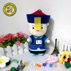Creative birthday gift of funny cartoon zombie toy, stuffed toy of little zombie doll is customized Can be customized 25 cm
