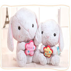 A stuffed toy doll doll with soft big ears and cute rabbits from Amuse, Japan, for Christmas pink 30 cm