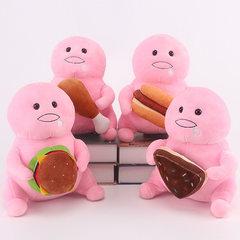 新款韩国ins可爱毛绒玩具脂肪君布偶精品毛绒公仔创意可爱小抱枕 粉色美食款随机发放 25cm