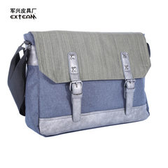 Guangzhou factory direct selling fashion men`s leisure bags schoolbag trend single shoulder bag men` Dark grey