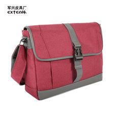 Manufacturers sell fashionable leisure bag campus students satchel oblique bag men`s single shoulder red