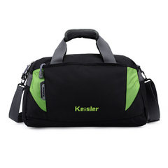 Single shoulder slanting bag training fitness bag travel bag sports bag women`s men`s yoga bag custo green