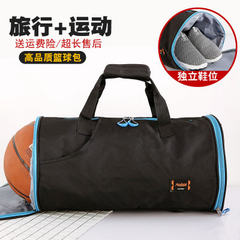 Round fitness package short - distance large - capacity portable men`s travel bag basketball footbal red 27 litres