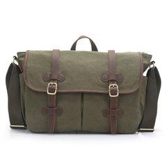 2017 fashionable vintage canvas bag single room wear-resisting man oblique bag portable man bag whol Dark grey