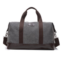Men with slanted shoulder bags for leisure travel spring new large capacity fashion canvas bags gray