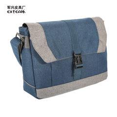Manufacturers wholesale fashionable men`s casual bag trend student satchel oblique bag men single sh blue