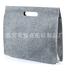 Manufacturer wholesale to order simple felt computer bag handbag briefcase can add logo creative new yellow 11
