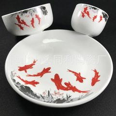 Disposable sterilization tableware set bowl and dish plate high white resistance to fall and high te Can be sample roasted flower processing 16-16.9 cm