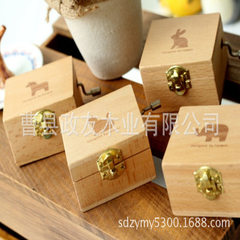 Beech wooden hand-shaking wooden music box octave creative birthday present wooden crafts 7 * 6 * 5
