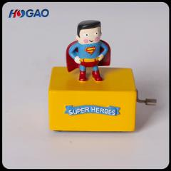 Creative American zakka grocery superman shakes music box of tabletop furnishings home decoration cr color 10 cm