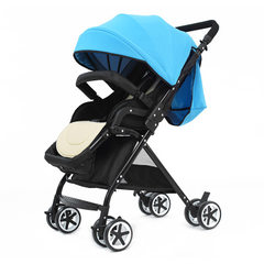 China baby new high - view baby stroller baby stroller baby stroller children light folding can sit  6606 blue