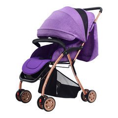 The new portable baby stroller can be used as a substitute for a baby stroller 8002 purple