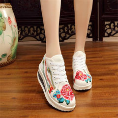 A new style spring and summer hair shake shoes thick bottom comfortable canvas shoes women old Beiji white 35