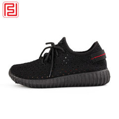 2018 summer new hollow net cloth coconut shoes soft bottom breathable cloth shoes women`s shoes ligh black 36
