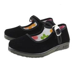 Ganyude 2017 hot style soft-soled children`s shoes girls younger generation dance old Beijing cloth  black 12-16