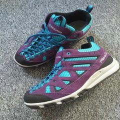 Autumn winter new South Korea outdoor women`s mountaineering shoes in high to prevent slippery speci purple 38