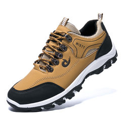 Hot style 2018 new men`s sports shoes men`s spring leisure shoes men`s outdoor hiking shoes men`s fa J09 khaki 39