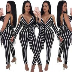 Cross-border exclusive for ebay, amazon 2018, new European and American women`s sexy leggings 1852 1852 - stripe s.