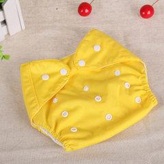 防水纳米可调节按扣式 可调大小婴儿布尿裤 宝宝裤隔尿裤 厚款 黄色 厚款
