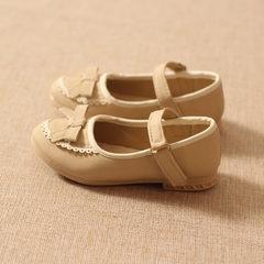 特价鞋不退不换女童公主鞋韩版方口鞋花朵学生中童单鞋儿童PU批发 卡其 27-31(一手5双)