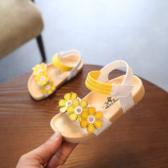 Children`s shoes 2018 summer new beach shoes approved soft baby shoes Korean version of fashionable  yellow 21