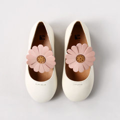 2018 spring and summer new girl princess shoes fashion Korean version of flower single shoe students white 24